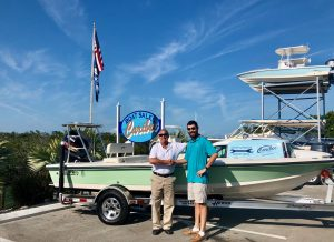 Michael Thaler with his new boat