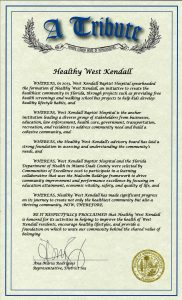 Healthy West Kendall Tribute
