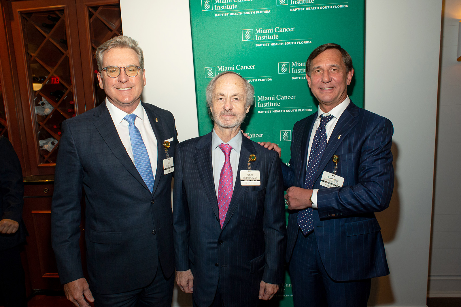 [Pictured, left to right] Bo Boulenger, Executive Vice President and Chief Operating Officer at Baptist Health South Florida; and Drs